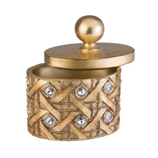 Goldtone Dazzle Jewelry Box