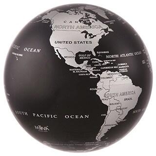 Silver Black Metallic 6-inch Solar Powered MOVA World Globe