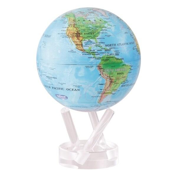 Relief Blue Ocean Solar Powered MOVA World Globe