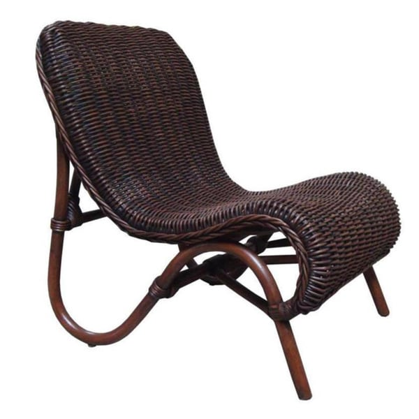 Rustic Brown Rattan Jungle Chair