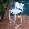Pure Modern Aluminum and Ferrari Batyline Sling Stacking All Weather Barstool (Set of 4)