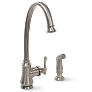 Premier Torino Lead-free Single-handle Brushed Nickel Kitchen Faucet with Matching Sprayer