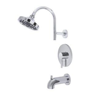 Premier Essen Chrome Bathroom Tub and Shower Faucet