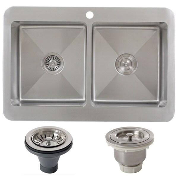 Dayton Bar Sink By Ticor Tr1800bg Bask Del 33 Inch 16 Gauge Double Bowl