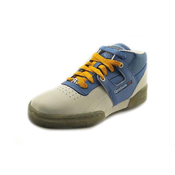Reebok Boy (Youth) 'Workout Mid Ice' Leather Athletic Shoe (Size 6 )