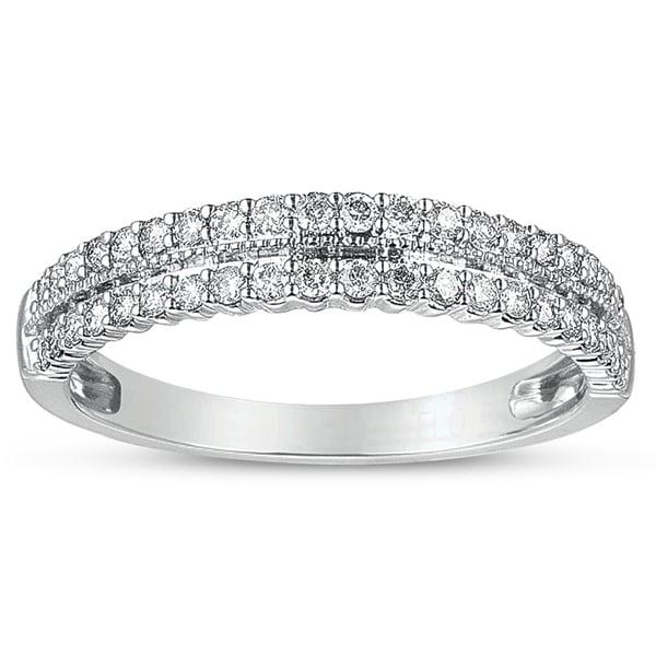 Eloquence 14k White Gold 1/3ct TDW Multirow Diamond Band (H-I, I1-I2)