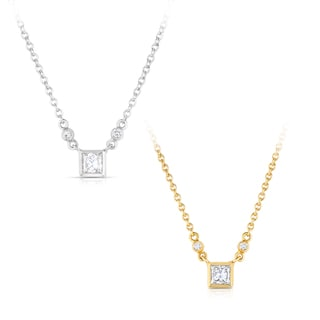 Eloquence 18k Gold 1/2ct TDW Diamond Necklace (H-I, SI1-SI2)