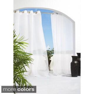 Cote d'Azure Indoor/Outdoor Semi Sheer Curtain Panel Pair