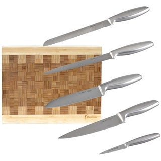Geminis 5-piece Cutlery Set with Cutting Board