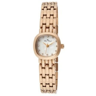 Lucien Piccard Women's LP-12012-RG-02MOP Teide White Mother of Pearl Watch