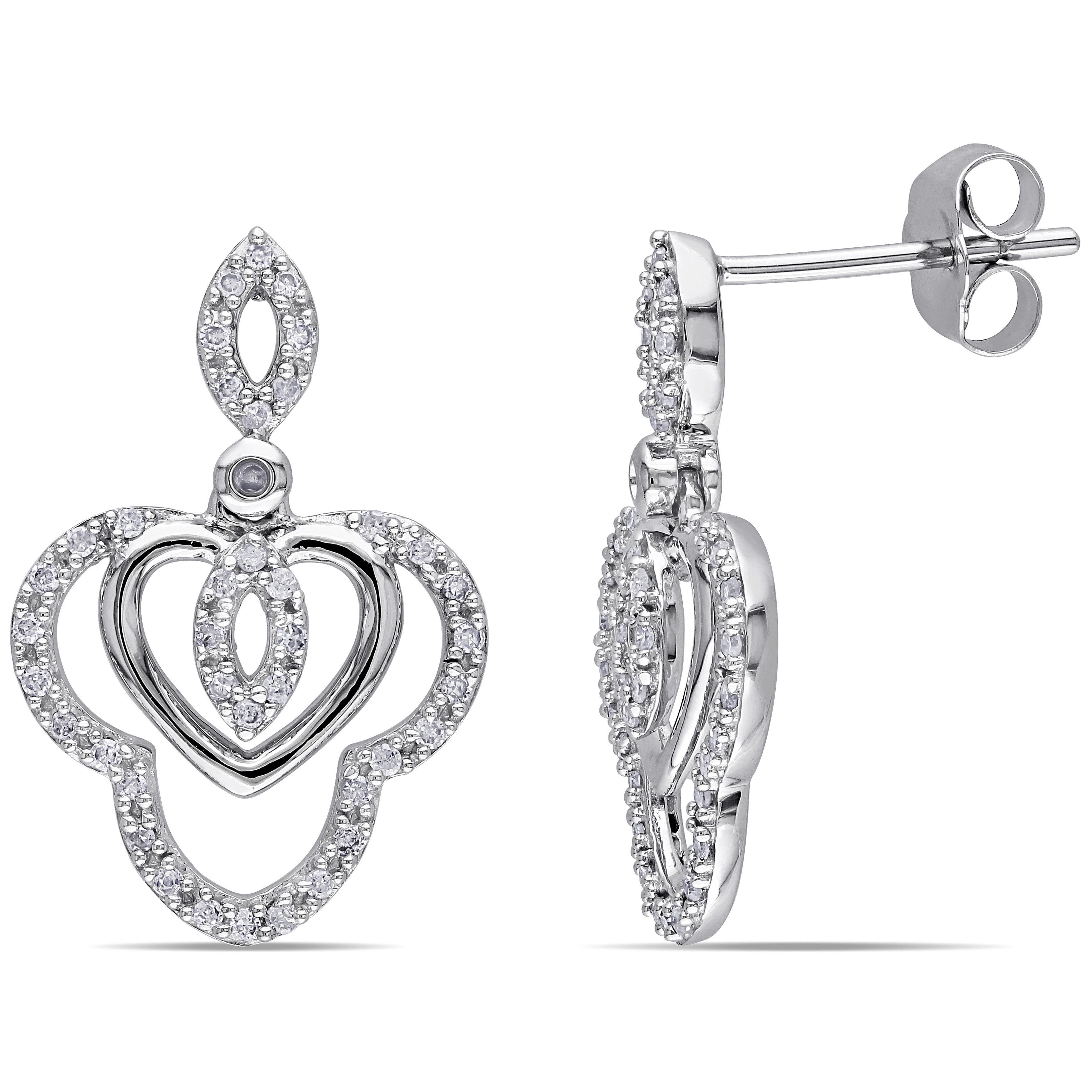 Miadora 10k White Gold 1/4ct TDW Diamond Dangle Earrings (H-I, I2-I3) at Sears.com