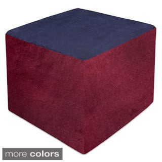 24-inch Square Two-tone Suede 1.8 HD Durable High Density Foam Ottoman