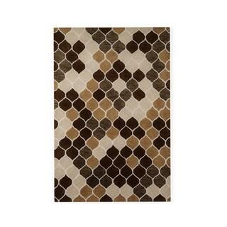 Hand-tufted Tatum Neutral/ Brown Wool Rug (5'0 x 7'6)