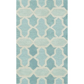 Hand-tufted Tatum Aqua Wool Rug (2'3 x 3'9)