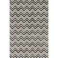 Hand-tufted Tatum Ivory/ Grey Chevron Wool Rug (3'6 x 5'6)