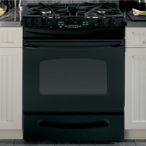 GE Black Slide-In Gas Range 30""