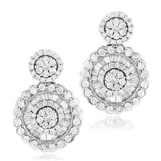 Luxurman 18k White Gold 1 4/5ct TDW Diamond Stud Earrings (G-H, VS1-VS2)