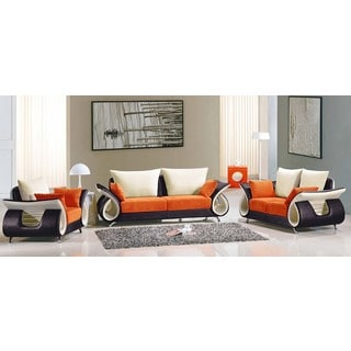 Lucas Fabric 3-piece Sofa Set