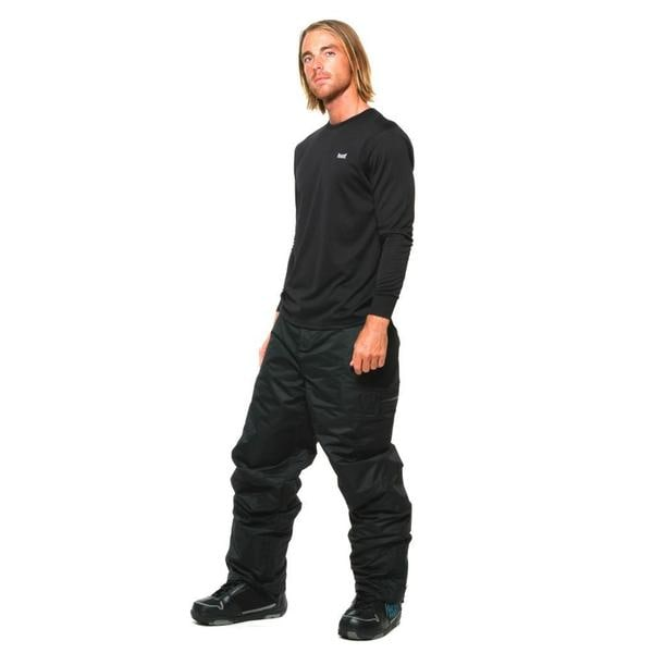 Pulse Men's Black Insulated Tech Snow Pants