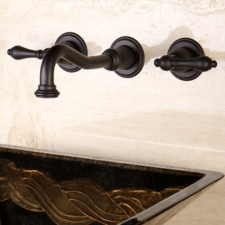 Wall-mount Oil-rubbed Bronze Vessel Bathroom Faucet