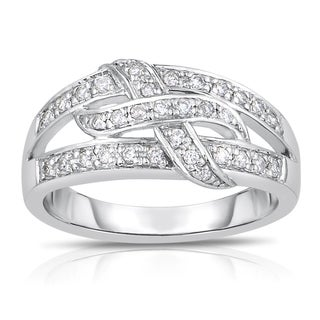 Eloquence 14k White Gold 1/4ct TDW Diamond Ring (H-I, I1-I2)
