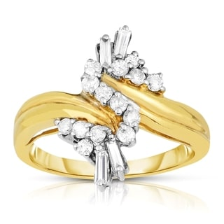 Eloquence 14k Yellow Gold 1/2ct TDW Vintage-inspired Diamond Ring (J-K, I1-I2)