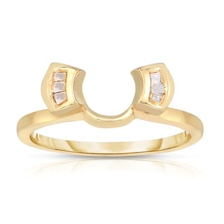 Eloquence 14k Yellow Gold 1/10ct TDW Diamond Ring Wrap Guard (J-K, SI1-SI2)