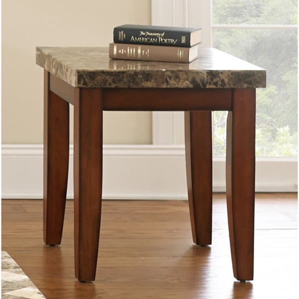 Martinique Marble Top End Table
