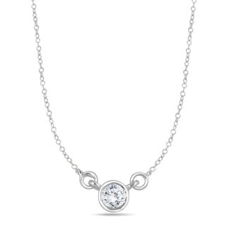 Marquee Jewels 14k White Gold 1/4ct Bezel-set Diamond Solitaire Pendant (I-J, I2-I3)