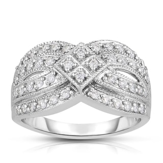 Eloquence 14k White Gold 1/2ct TDW Fashion Diamond Band (H-I, I2-I3)