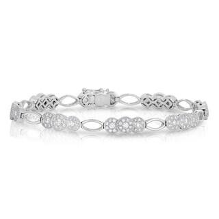 Eloquence 14k White Gold 2ct TWD Diamond Vintage Style Bracelet (H-I, I1-I2)
