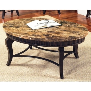 Helena Marble Top Oval Coffee Table