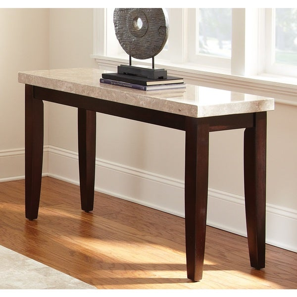 Greyson Living Malone Marble Top Sofa Table Overstock