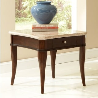 Madaleine Marble Top End Table