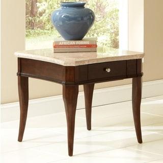 Madaleine Marble Top End Table