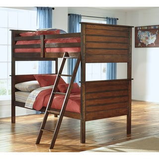Signature Design by Ashley Ladiville Rustic Brown Twin Size Youth Bunk Bed