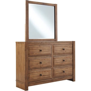Signature Design by Ashley Birnalla Light Brown 2-piece Youth Dresser and Mirror