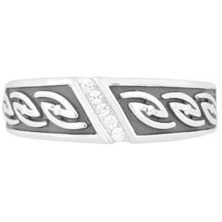 Bridal Symphony Sterling Silver Men's 1/10ct TDW Diamond Ring (I-J, I1-I2)