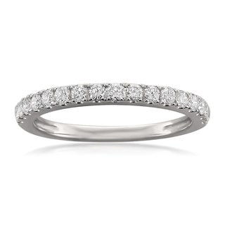 Brides Across America by Montebello 14k White Gold 1/2ct TDW Round-cut Diamond Wedding Band (G-H, VS1-VS2)