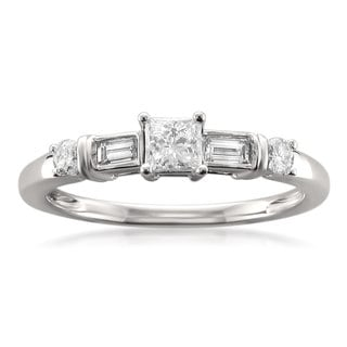 Brides Across America 14k White Gold 1/2ct TDW Diamond Engagement Ring (H-I, SI1)
