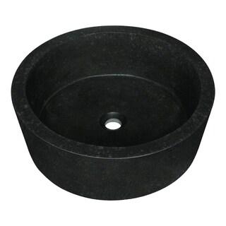 862 Black Honed Basalt Vessel Sink