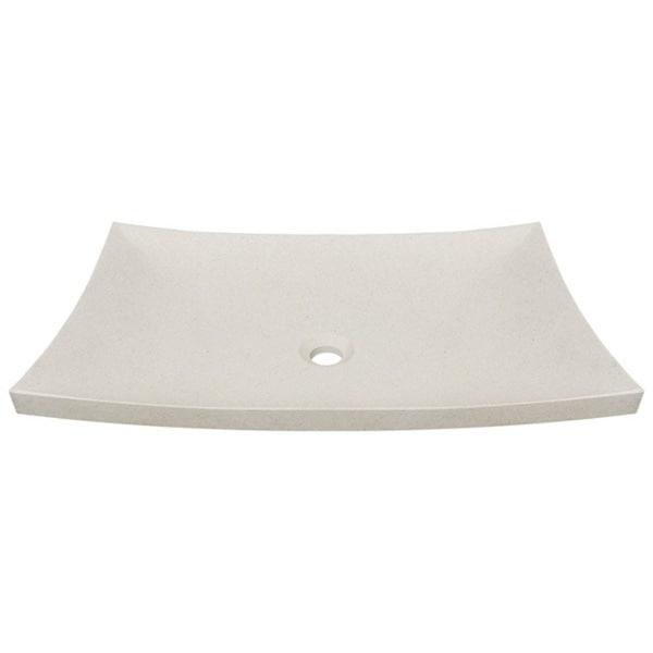 MR Direct 858 Cream Pinta Compound Marble Vessel Sink