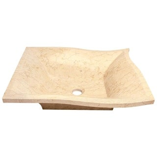 MR Direct 859 Egyptian Yellow Marble Vessel Sink