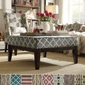 INSPIRE Q Ashland 36-inch Print Upholstered Cocktail Ottoman