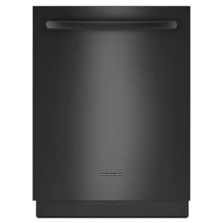 KitchenAid Fully Integrated Dishwasher with 4-wash Cycles Black