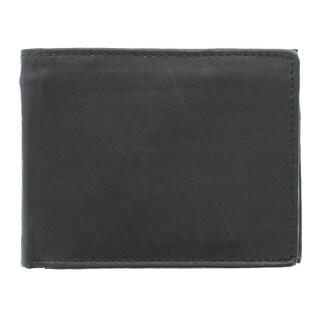 YL Men's Leather Bi-fold Wallet