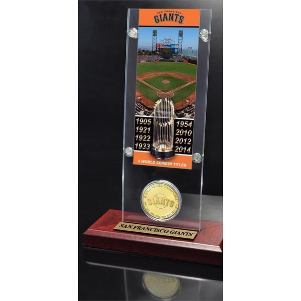 San Francisco Giants 8-time World Series Champs Replica Ticket and Coin Acrylic Display