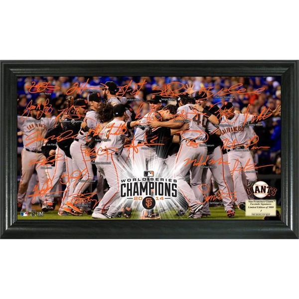San Francisco Giants 2014 World Series Champions Celebration Framed Photograph