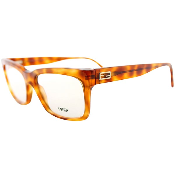 Best Eyeglass Frame Color For Blondes : Fendi Unisex Brown Striped Eyeglasses