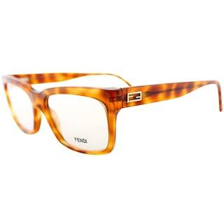 Fendi Blonde Havana Plastic Eyeglasses